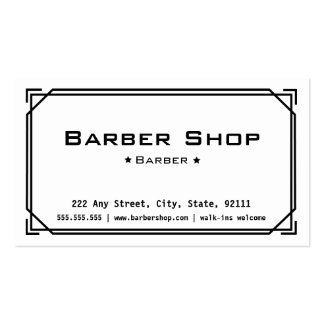 Tarjeta de visita de la peluquería de caballeros