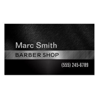 Tarjeta de visita de la peluquería de caballeros y