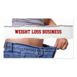 Tarjeta de visita de la pérdida de peso del chica