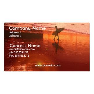 Tarjeta de visita de la persona que practica surf