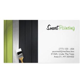 tarjeta de visita de la pintura
