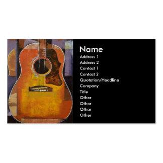 Tarjeta de visita de la pintura de la guitarra