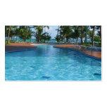Tarjeta de visita de la piscina del agente de viaj