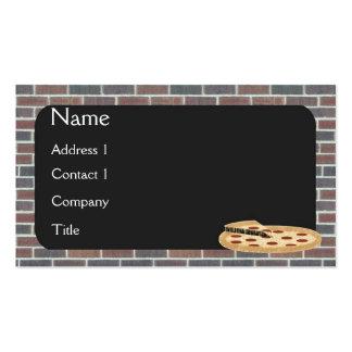 Tarjeta de visita de la pizza