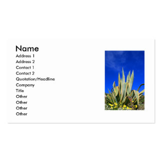 Tarjeta de visita de la planta del agavo