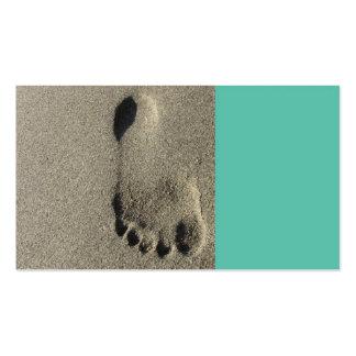 tarjeta de visita de la playa