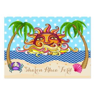 ¡Tarjeta de visita de la playa - AMOR de I ÉL! SRF Tarjetas De Visita Grandes
