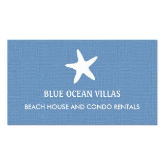 Tarjeta de visita de la playa de las estrellas de