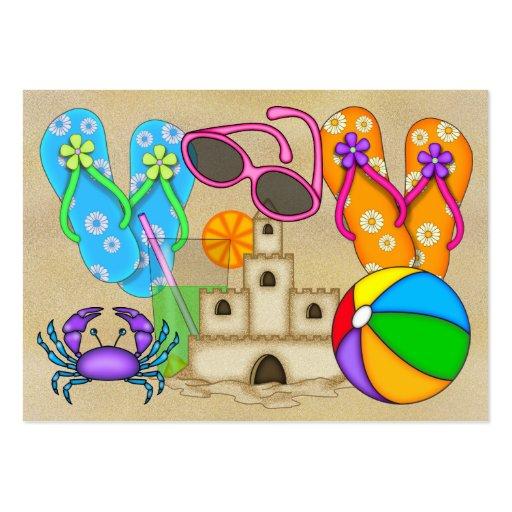 Tarjeta de visita de la playa - SRF