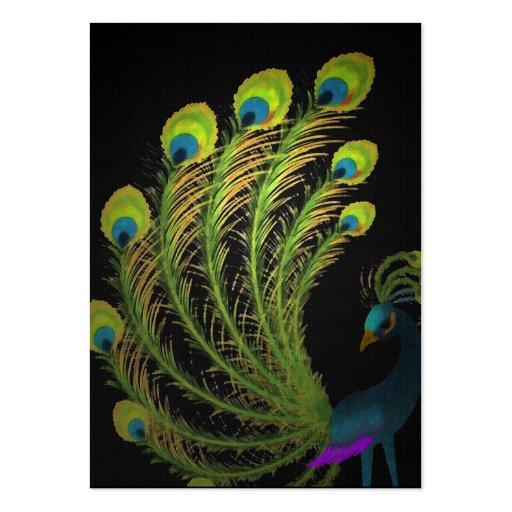 Tarjeta de visita de la pluma del pavo real