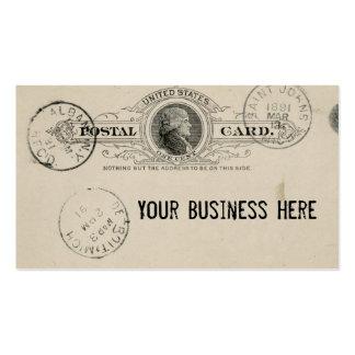 Tarjeta de visita de la postal del franqueo del