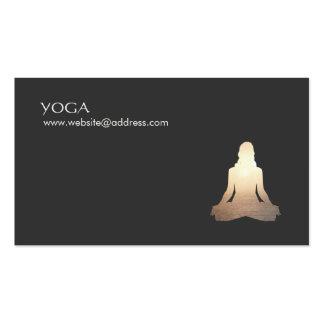 Tarjeta de visita de la postura de la meditación