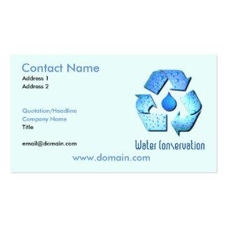 Tarjeta de visita de la protección de agua