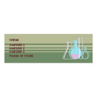 Tarjeta de visita de la química