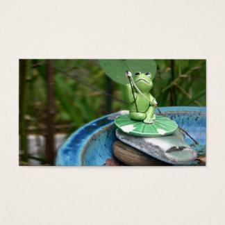 Tarjeta de visita de la rana
