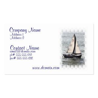 Tarjeta de visita de la raza del velero