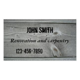 Tarjeta de visita de la renovación o de la