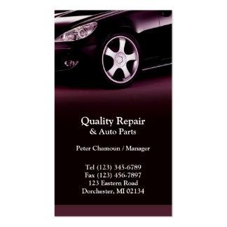 Tarjeta de visita de la reparación auto