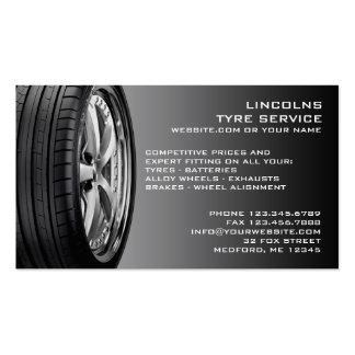 Tarjeta de visita de la reparación auto de los