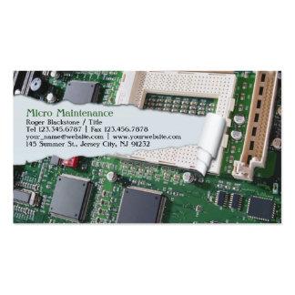 Tarjeta de visita de la reparación del ordenador
