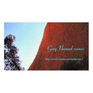 Tarjeta de visita de la roca de Ayres