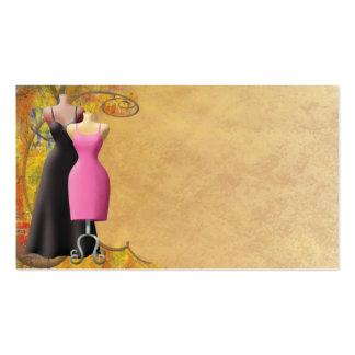 Tarjeta de visita de la ropa de moda de las señora