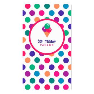Tarjeta de visita de la sala de helado