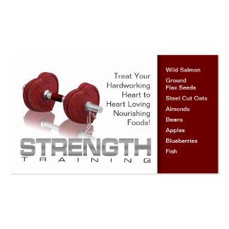 Tarjeta de visita de la salud del corazón