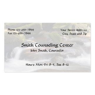 Tarjeta de visita de la salud mental del psicólogo