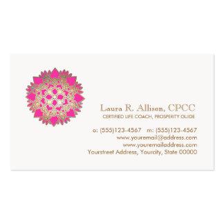 Tarjeta de visita de la salud rosada de Lotus y de