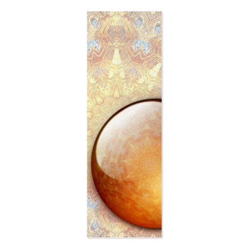 Tarjeta de visita de la señal de la joya de la