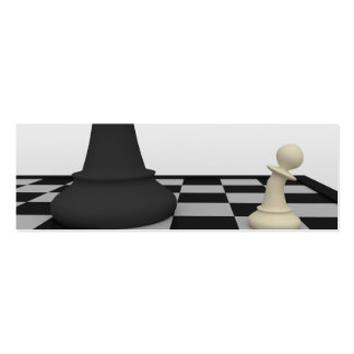 Tarjeta de visita de la señal del ajedrez