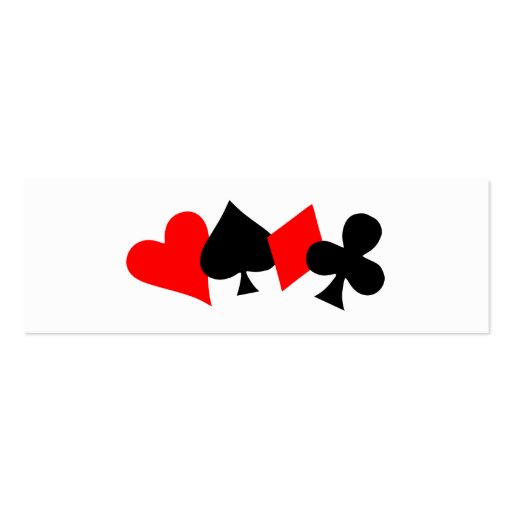 Tarjeta de visita de la señal del póker