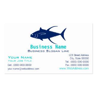 Tarjeta de visita de la silueta del atún de trucha