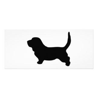 Tarjeta de visita de la silueta del negro del perr tarjeta publicitaria a todo color