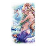 Tarjeta de visita de la sirena y del dragón