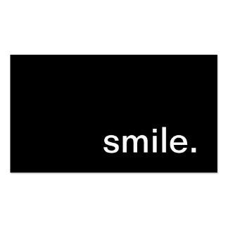 Tarjeta de visita de la sonrisa