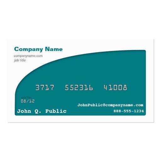 Tarjeta de visita de la tarjeta de crédito