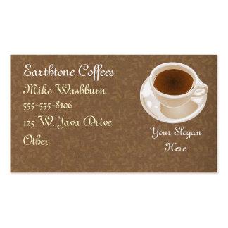 Tarjeta de visita de la taza de café