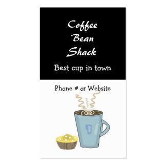 Tarjeta de visita de la taza y del mollete de café