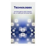 tarjeta de visita de la tecnología