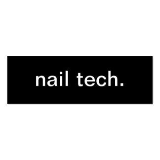 Tarjeta de visita de la tecnología del clavo