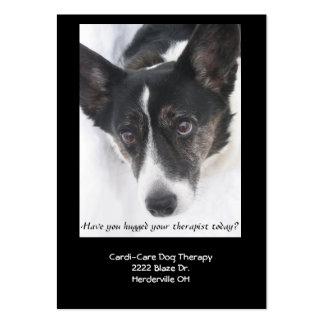 Tarjeta de visita de la terapia del perro II