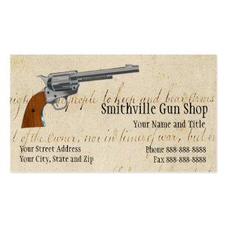 Tarjeta de visita de la tienda de armas