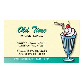 Tarjeta de visita de la tienda de helado del Milks