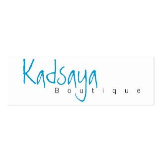 Tarjeta de visita de la tienda de Kadsaya 4 del bo