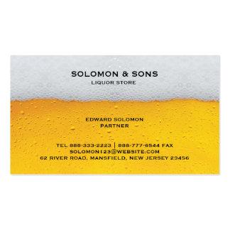 Tarjeta de visita de la tienda de la cerveza del l