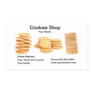 Tarjeta de visita de la tienda de las galletas