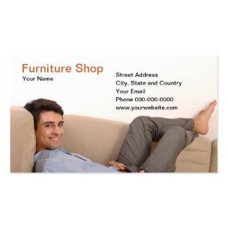 Tarjeta de visita de la tienda de los muebles