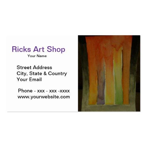 Tarjeta de visita de la tienda del arte